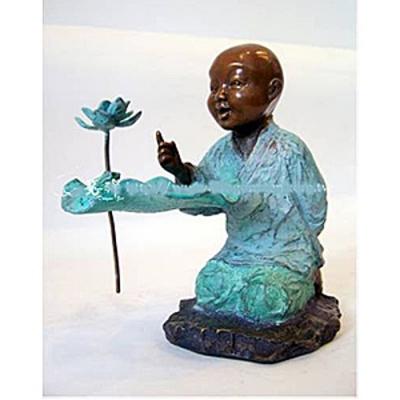 林韋龍(林宇坤) 童趣系列限量原作銅雕~說禪 ~~(很小件)