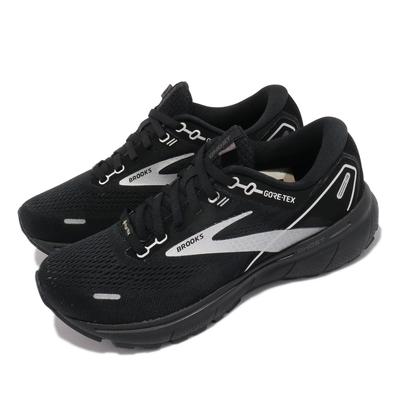Brooks 慢跑鞋 Ghost 14 GTX 運動 女鞋 防潑水 防震 輕量 路跑 黑 灰 1203551B066