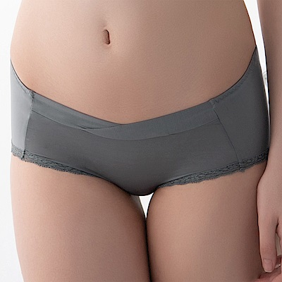 華歌爾-輕柔記形M-LL中腰蕾絲平口褲(綠)輕薄透氣