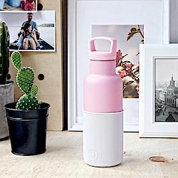 美國HYDY時尚保溫瓶_CinCin Déco雪白-玫瑰粉瓶 480ml