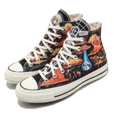Converse 帆布鞋 Chuck 70 Hi 塗鴉印花 男女鞋 wisted Resort 三星黑標 高筒 黑 彩
