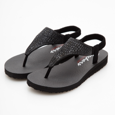 SKECHERS 女 休閒系列 MEDITATION 涼拖鞋 - 31560BBK