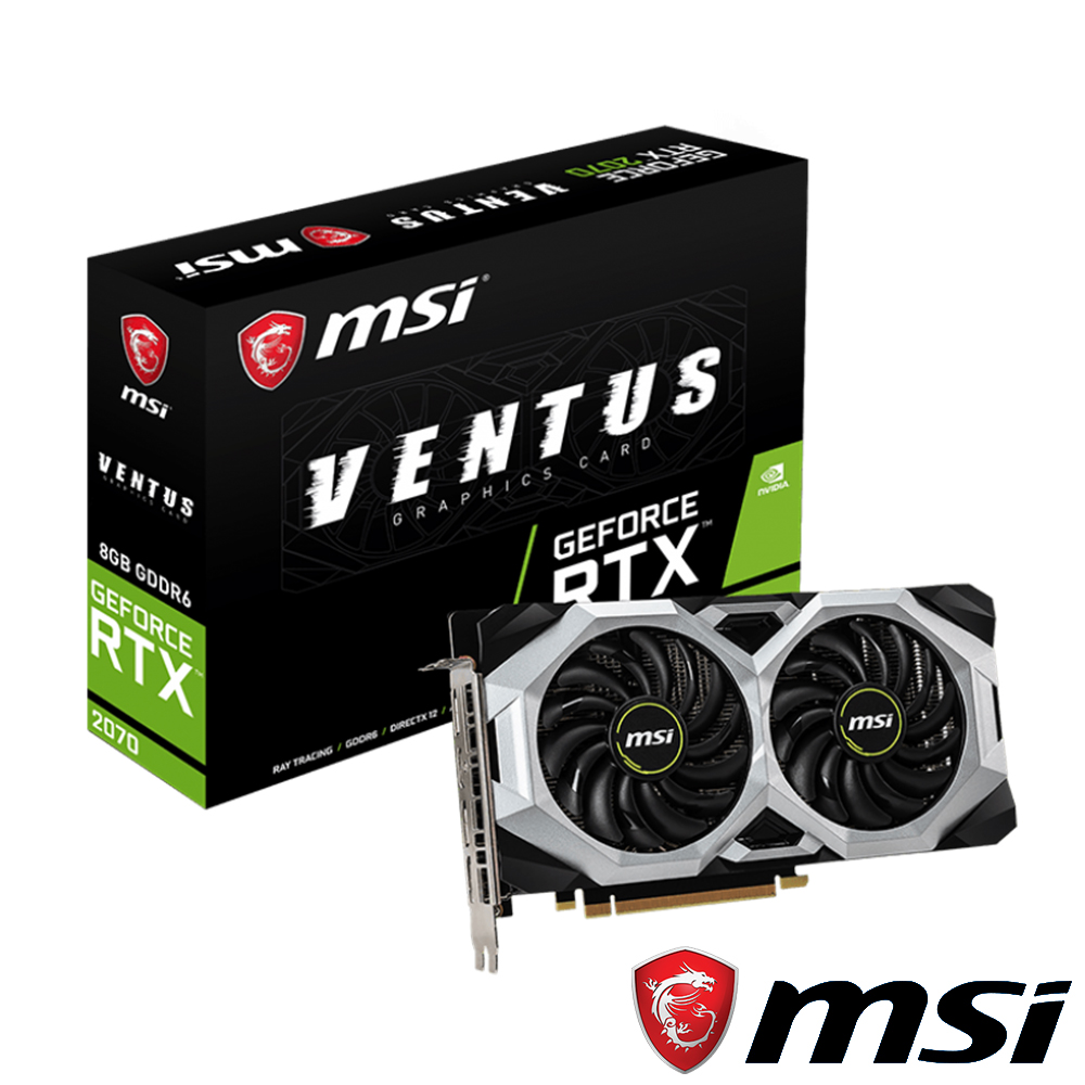 (無卡分期12期)MSI GeForce RTX 2070 VENTUS 8G