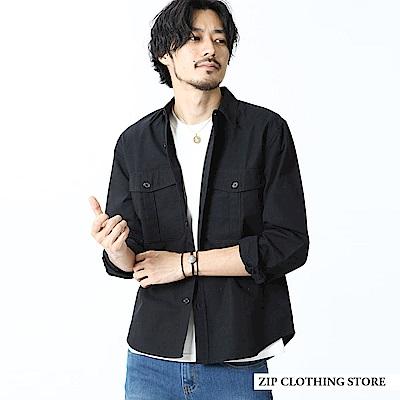 百搭素色襯衫夾克外套(3色) ZIP日本男裝