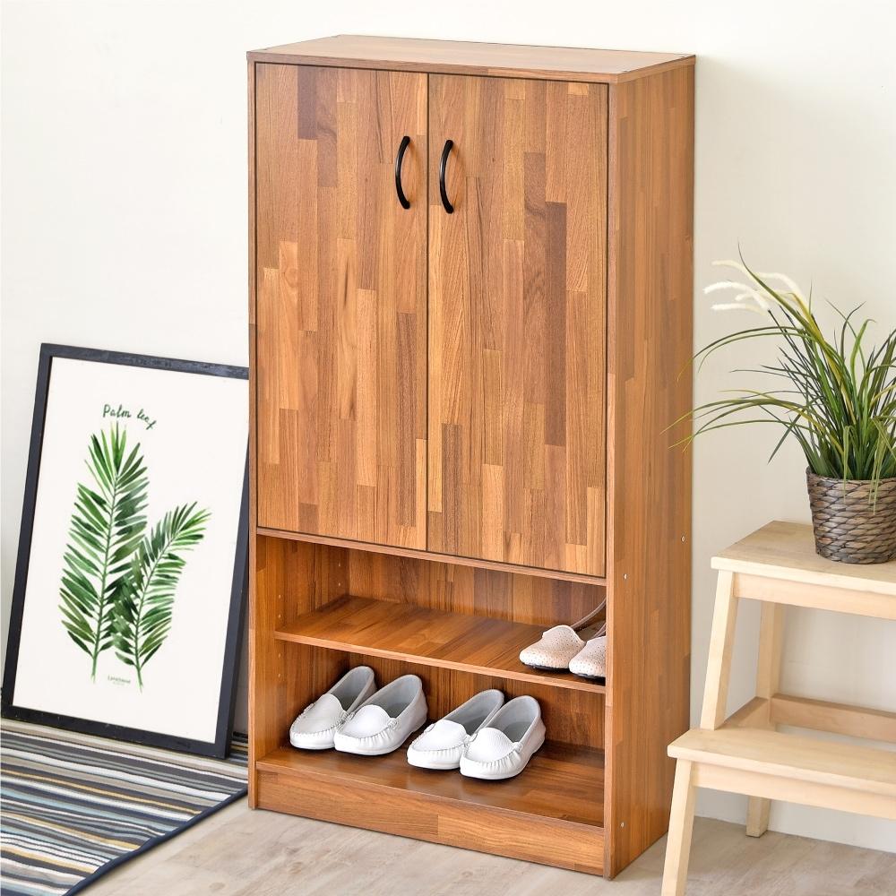 《HOPMA》DIY巧收摩爾機能雙門鞋櫃/收納櫃-寬60.5x深30.5x高120 cm product image 1