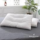 HOYACASA 100%白鵝立體羽毛枕(二入)