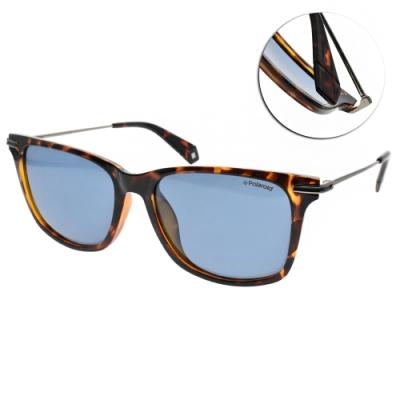 Polaroid 偏光太陽眼鏡 潮流方框款/琥珀棕銀 #PLD6078FS 086C3