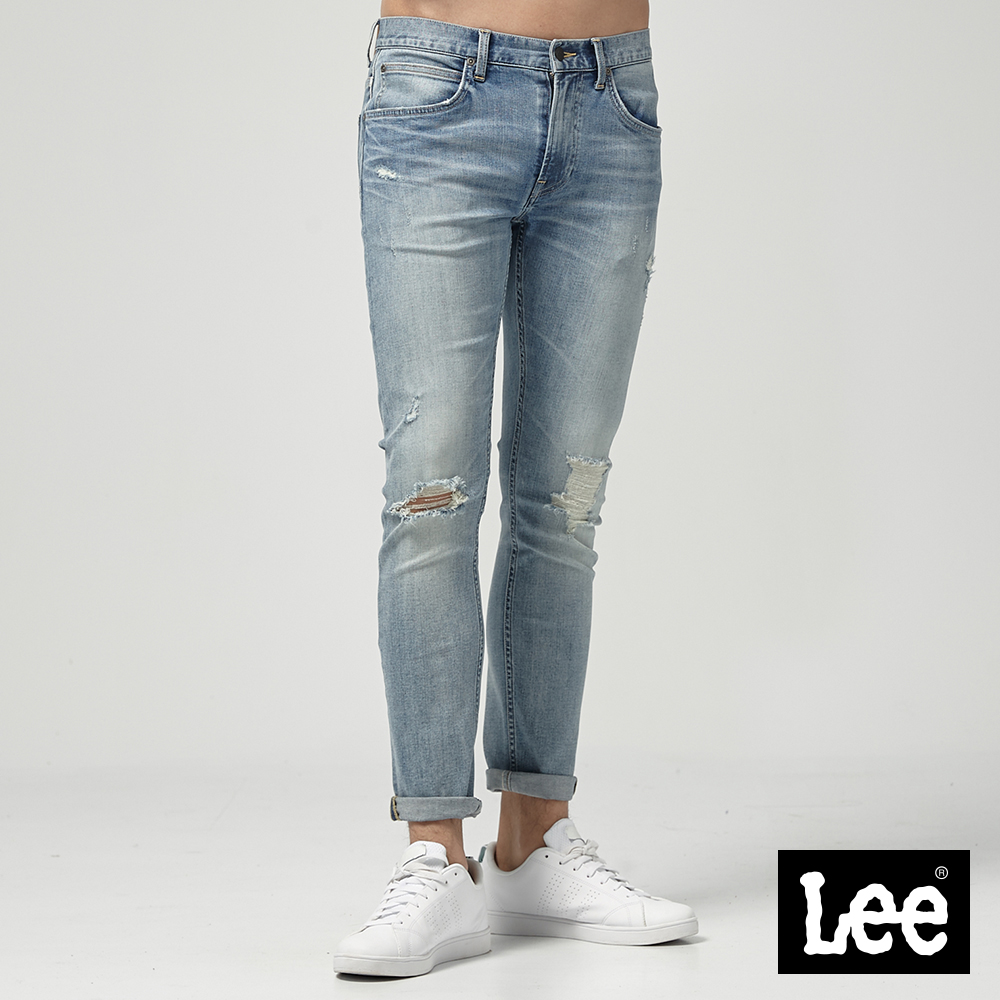 Lee 低腰合身小直筒牛仔褲-淺藍 @ Y!購物