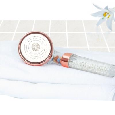 【Incare】玫瑰金三段式除氯可調式蓮蓬頭4件組(蓮蓬頭*2+防爆軟管*2)