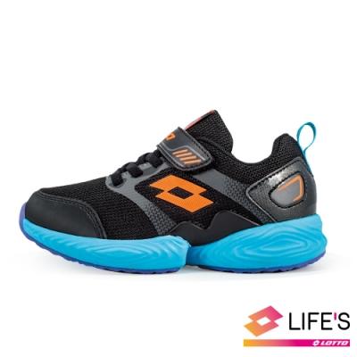 LOTTO 義大利 童 COLORE LIGHT 輕量跑鞋 (黑/藍)
