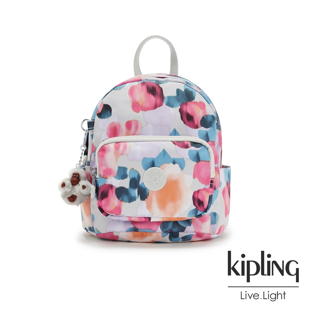 Kipling 繽紛夢幻花繪輕巧迷你後背包-MINI BACKPACK
