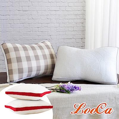 (跨年超值組) LooCa全智能三段式乳膠負離子獨立筒枕2入+時尚版2入