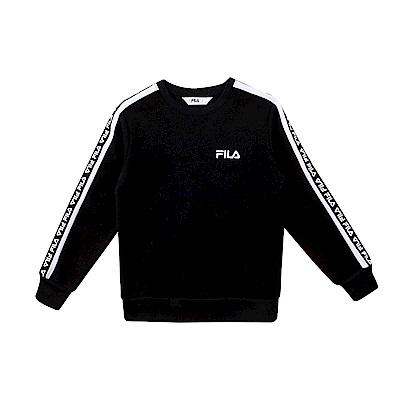 FILA KIDS #漢城企劃 童 針織上衣-黑 1TET-4410-BK