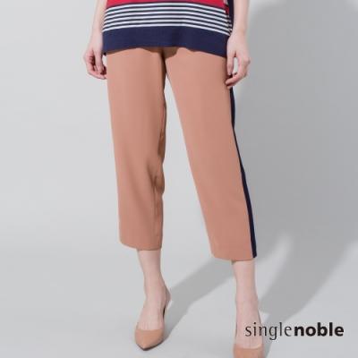 獨身貴族 獨特出眾側邊配色八分褲(2色)
