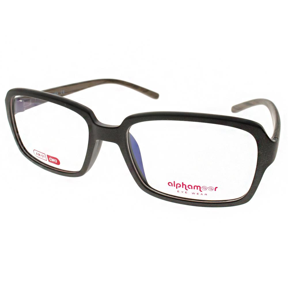 Alphameer光學眼鏡 韓國塑鋼系列/霧棕-木紋#AM51 CW3