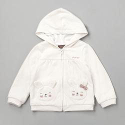 PIPPY 可愛小兔連帽針織外套 米