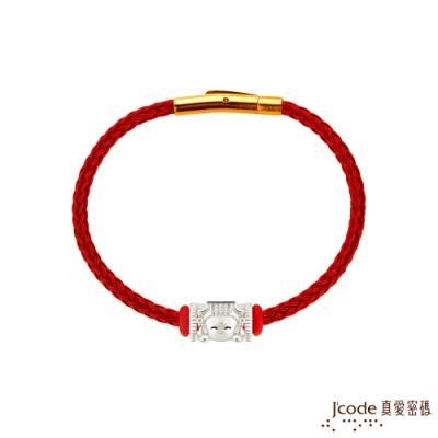 J code真愛密碼銀飾 大甲媽 媽祖純銀/鋼編織手鍊