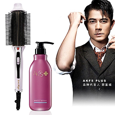 羅崴詩九排式電熱造型梳 贈郭富城代言護髮乳1入400ml (隨機)