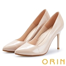 ORIN 簡約時尚名媛 嚴選真皮經典素面高跟鞋-鏡裸