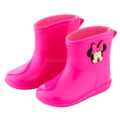 迪士尼童鞋 米妮 立體造型短筒雨鞋-桃(柏睿鞋業)