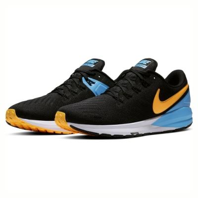 NIKE 運動鞋 避震 慢跑 路跑 輕量  男鞋  黑橘  AA1636011 AIR ZOOM STRUCTURE 22