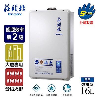 莊頭北 16L數位恆溫分段火排水量強制排氣熱水器 (TH-7167 天然瓦斯)