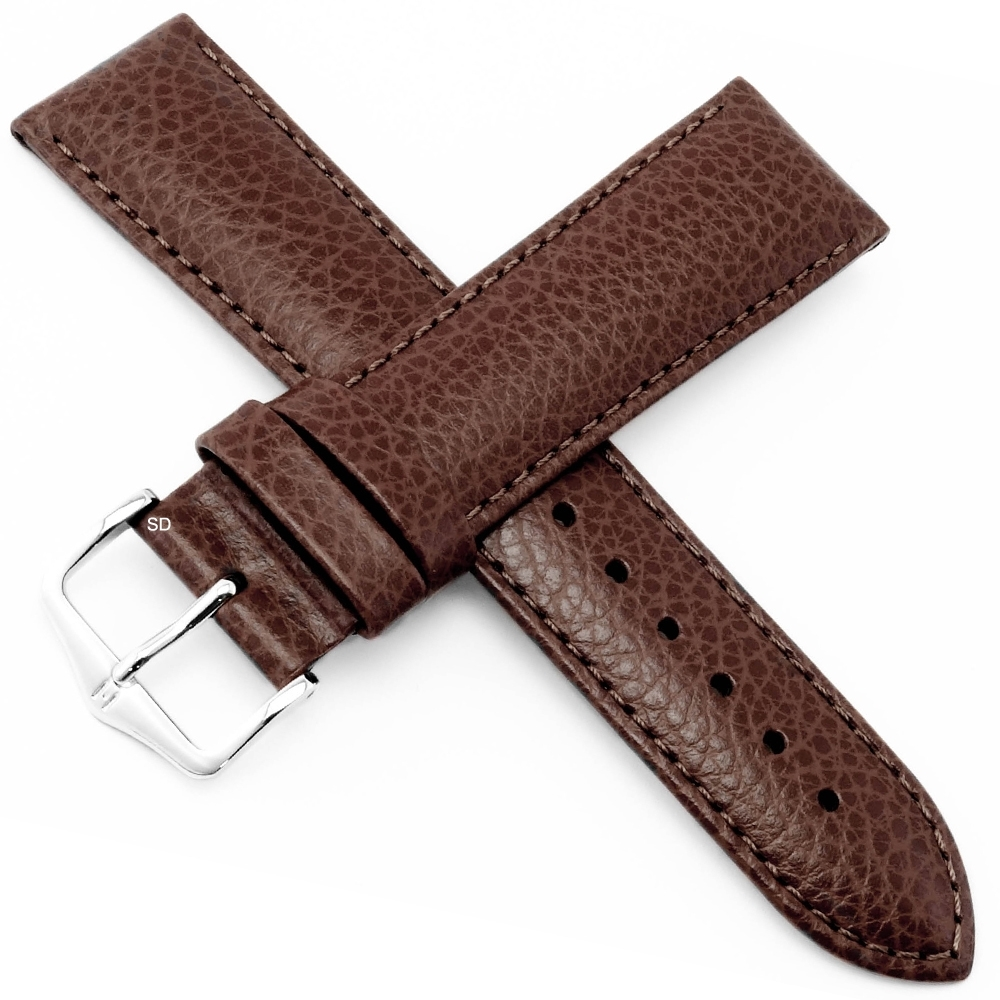 海奕施 HIRSCH Kansas L小牛皮手錶帶-棕
