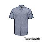 Timberland 男款深寶藍色短袖襯衫|A1VUW