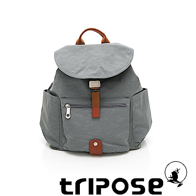 tripose MEMENTO系列微皺尼龍經典輕量後背包(小) 優雅灰