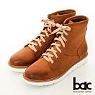 【bac】中性時尚擦色綁帶短靴-棕色