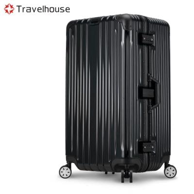 Travelhouse尊爵典藏II 29吋運動款鋁框行李箱黑色