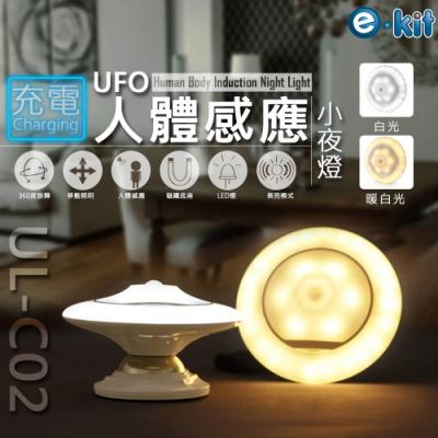 逸奇e-Kit 充電款人體感應UFO款360度隨身小夜燈-共兩色 UL-C02
