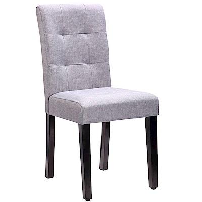 【AT HOME】現代簡約胡桃灰色布餐椅/休閒椅(42*54*91cm)伊芙