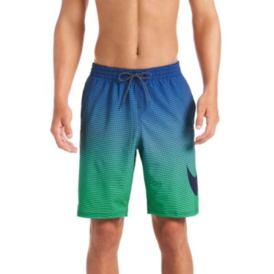 NIKE 海灘褲 沙灘褲 九吋短褲 男性 Atmosphere Swoosh Vital 藍綠 NESSA493-440(有內裡)