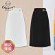 OUWEY歐薇 百搭素面剪接造型鉛筆裙(白/黑)3212102105 product thumbnail 1