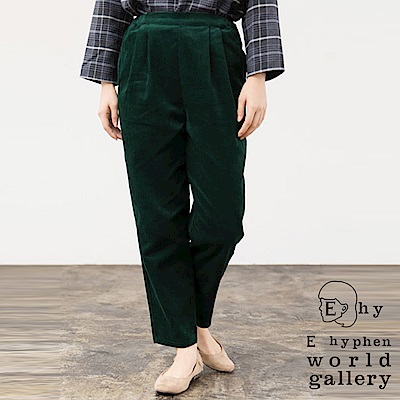 E hyphen 溫暖燈芯絨錐形寬褲
