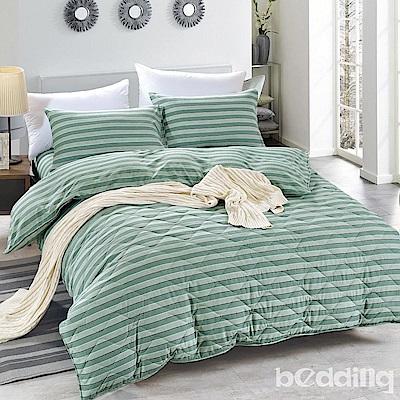 BEDDING-舒適系列海島棉6尺加大雙人薄式床包三件組-淡墨