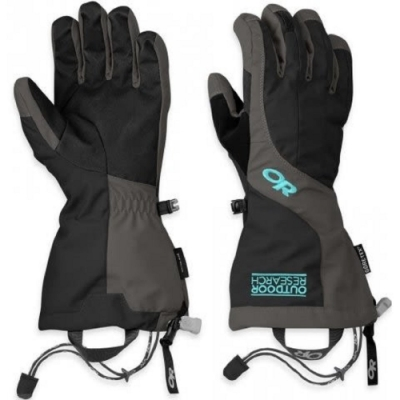 Outdoor Research 243356 ARETE 二件式保暖手套 女 灰黑