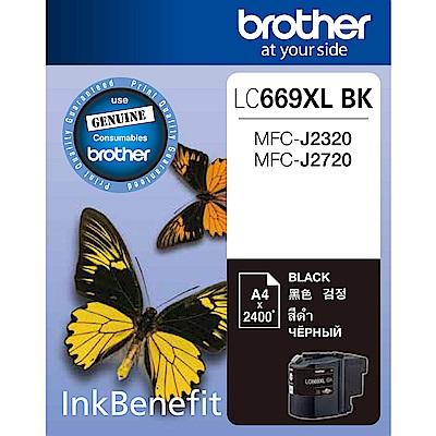 Brother LC669XL-BK 原廠黑色墨水