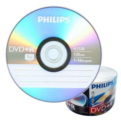 飛利浦 PHILIPS 空白光碟片 DVD+R 4.7GB 16X 光碟燒錄片X 600片