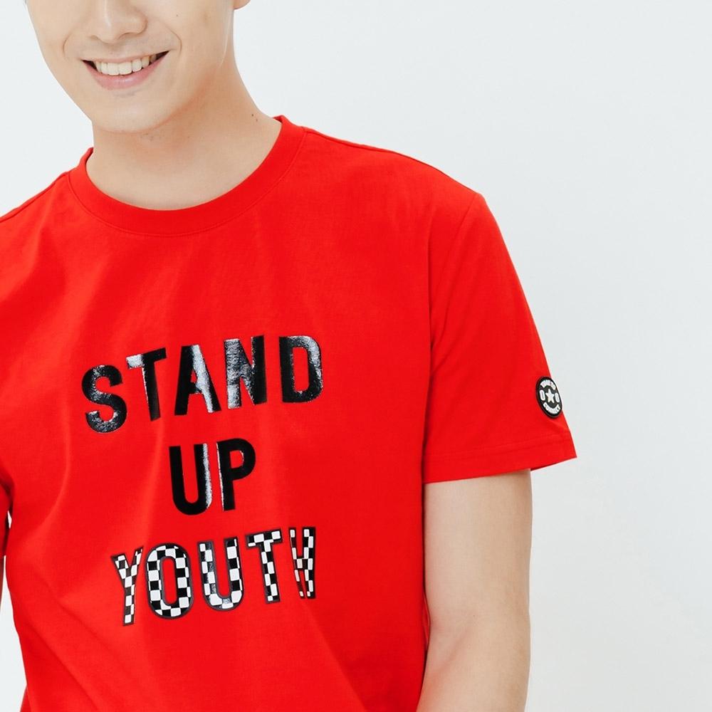 H:CONNECT 韓國品牌 男裝-休閒印字T-shirt-紅