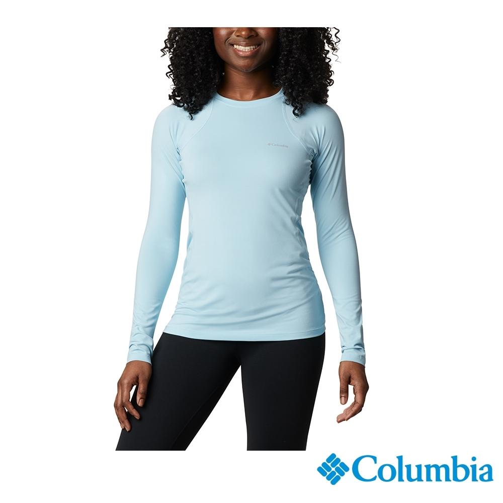 Columbia 哥倫比亞 女款- Omni HEAT 鋁點保暖快排內著上衣-藍色 UAL67630BL