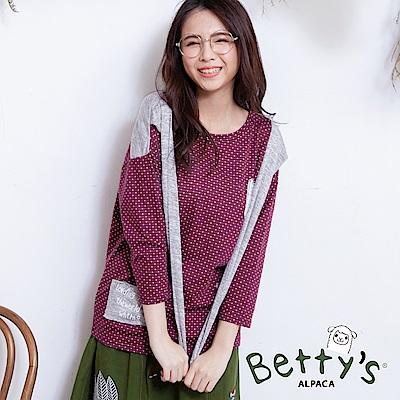 betty's貝蒂思 點點領結上衣(紅色)