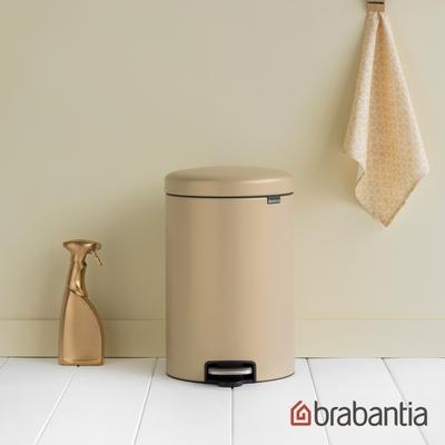 【Brabantia】NEWICON環保垃圾桶-金沙色-20L金屬踏板(新品上市)
