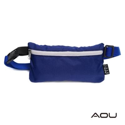 AOU 台灣製 YKK扣具 斜肩包 旅遊防盜貼身腰包 運動腰包03-021