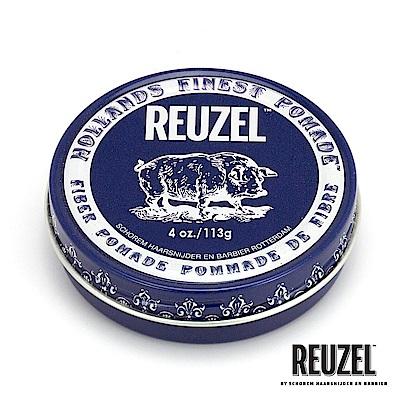 REUZEL Fiber Pomade深藍豬強力纖維級水性髮泥113g