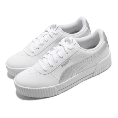 Puma 休閒鞋 Carina Meta20 運動 女鞋 基本款 簡約 舒適 皮革 球鞋 穿搭 白 銀 37322901