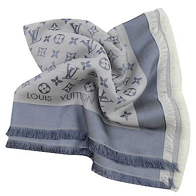 LV M71382 經典花紋羊毛披肩大方巾(軍藍色) @ Y!購物