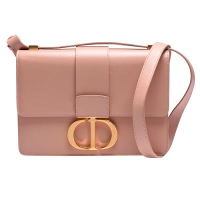Dior 經典30 MONTAIGNE系列小牛皮CD字母壓釦肩背包(裸粉色)