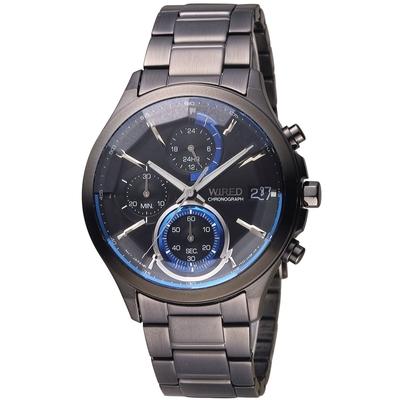 WIRED 日系潮流炫彩三眼計時腕錶 VR33-0AA0SD(AY8009X1)-40mm